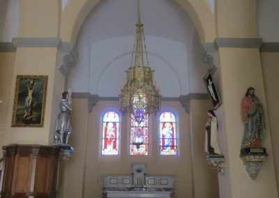 Badigeons à la chaux église